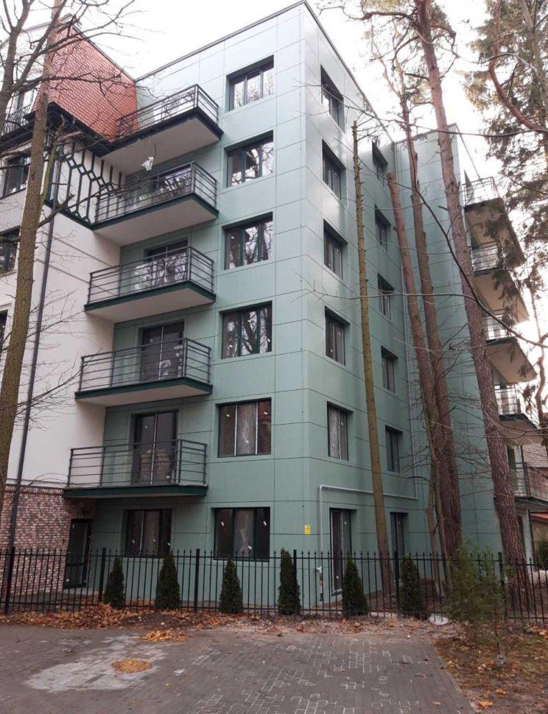 Жилой дом. Вентилируемый фасад из композита. Г. Светлогорск, ул. Зелёная.